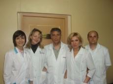 Профессор М.В.Самойлов с учениками – врачами отделения
