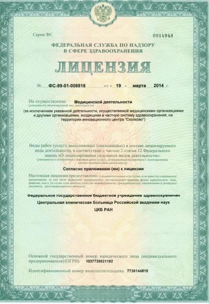 Виды деятельности лицензии